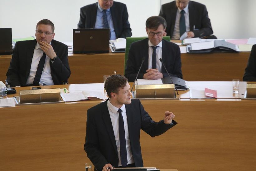 Jan Löffler während einer Rede im Sächsischen Landtag