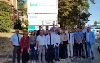 Schüler und Betreuer aus Minsk freuen sich auf die bevorstehende Ausbildungswoche